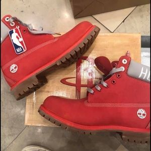 Brand new red timberland boots